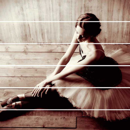 Kartini na doskax balerina