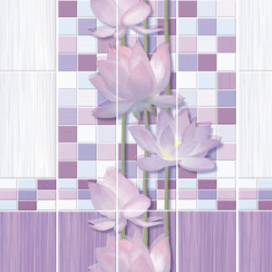 Панель ПВХ ЛОТОС (узор 3 панели)