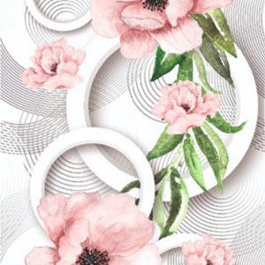 Абстракция мак розовый Эксклюзив
