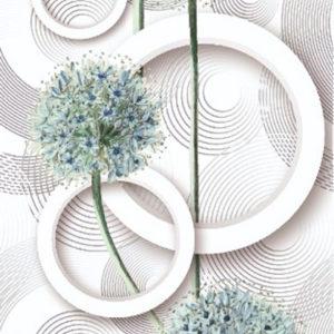 Абстракция одуванчик голубой Эксклюзив
